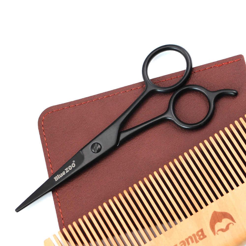 Nożyczki do twarzy ze stali nierdzewnej dla mężczyzn wąsy nożyczki do przycinania brody nożyczki do strzyżenia sierści bezpieczeństwo użytkowania pielęgnacja brody narzędzie
