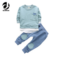 2PC Toddler Baby Boys Clothes Outfit Infant Boy Kids Shirt Tops Pants Casual Clothing Autumn Summer