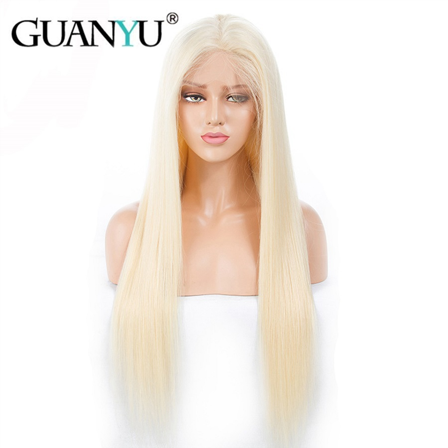 #613 Blonde 13*4 Lace Front Wig Pre Plucked With Baby Hair Remy Brazilian Straight Human Hair Wigs 150% Density For Black Women