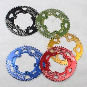 MEROCA 110mm BCD bicicleta plegable bicicleta cinco manivela doble Oval silla Crankset rueda de cadena cinco tornillos