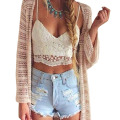 2017 New Sexy Vintage Women Crochet Lace Floral Tops Hollow V-Neck Bodycon Crop Cami Tops Blouse Vest Bra bustier Crop Top