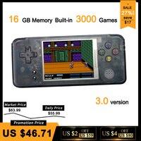 RS-97 Classique Rétro De Poche Jeu Lecteur Mini Vidéo Jeu Console 3.0 pouces Écran 16 GB Portable Intégré 3000 Jeux