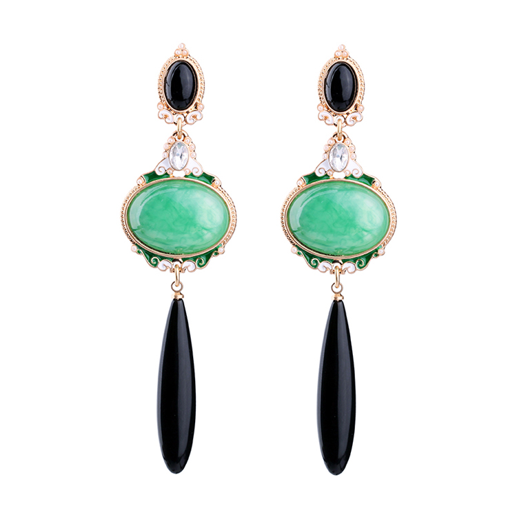 New arrival New Colorful Design Luxury Pendant Crystal earrings