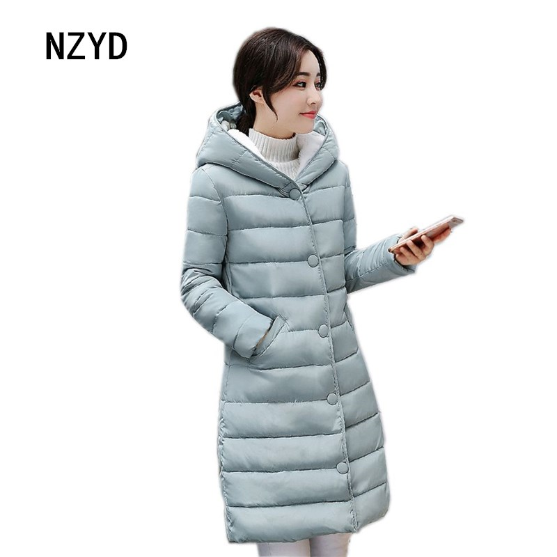 Winter Women Jacket Down 2017 New Fashion Hooded Warm Medium long Female Coat Long sleeve Loose Big yards Parkas LADIES293 2017 new women winter parkas fashion hooded thick warm medium long down cotton jacket long sleeve loose big yards female coat
