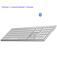 Fully Size 109 Keys Wireless Keyboard Android PC Bluetooth 3.0 Wireless Keyboards With Numeric Support For Apple Android Windows|Keyboards| |  -