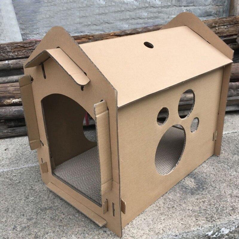Mignon Pet Chats Papier Ondulé Carton Maison Japon Style Épaississent Zéro Jouets pour Chaton Durable Scratch Bord Chats Jouets Fournitures