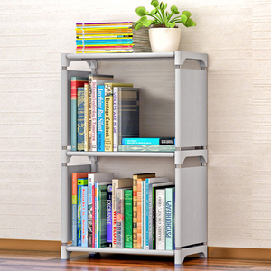 Image 2 - Fashion Simple Non woven Bookshelves Two layer Dormitory Bedroom Storage Shelves Bookcase Childrens Assembly Bookcase