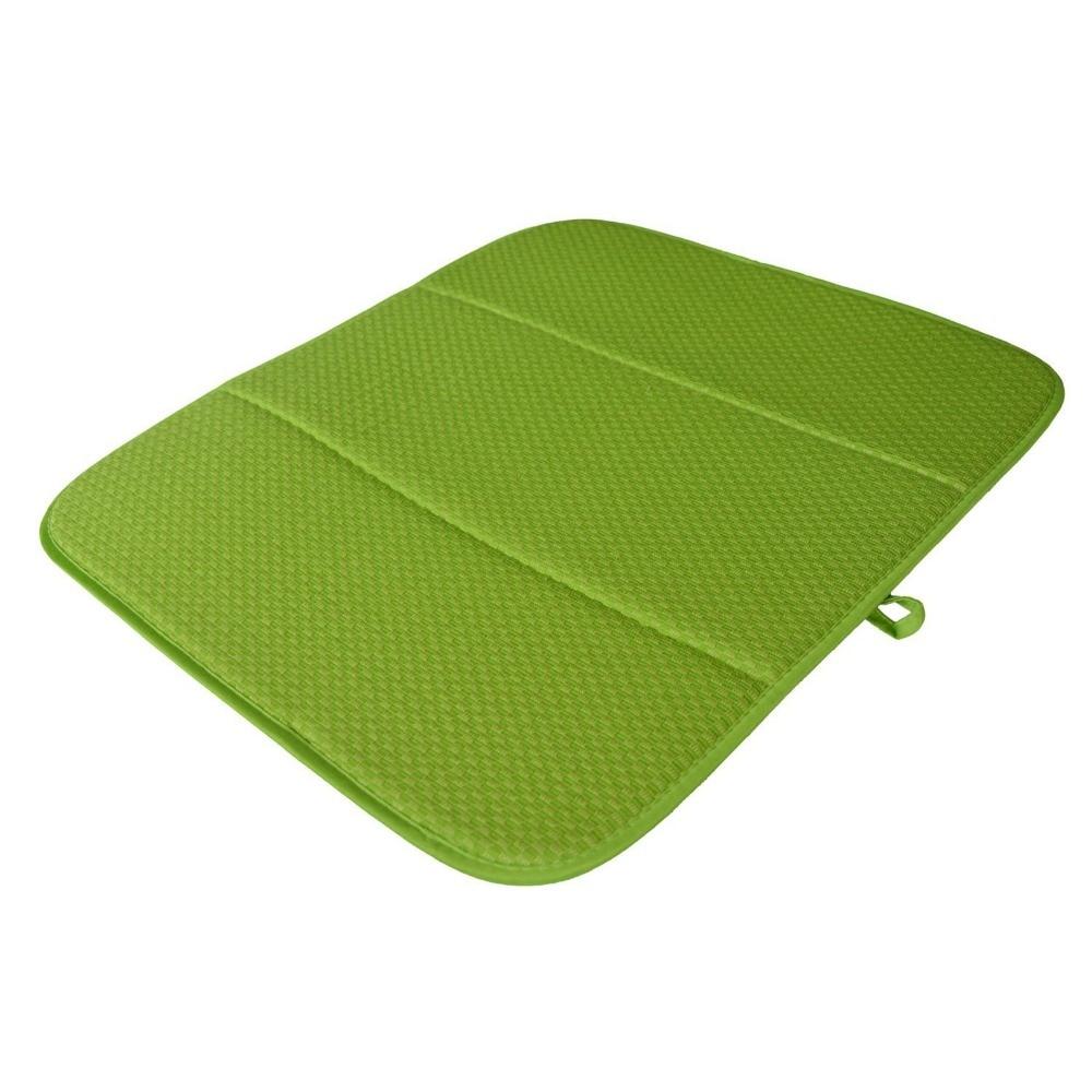 Haute qualité 16 pouces x 18 pouces gaufre tissage plat séchage tapis pour cuisine microfibre coussin Pad XL-crème