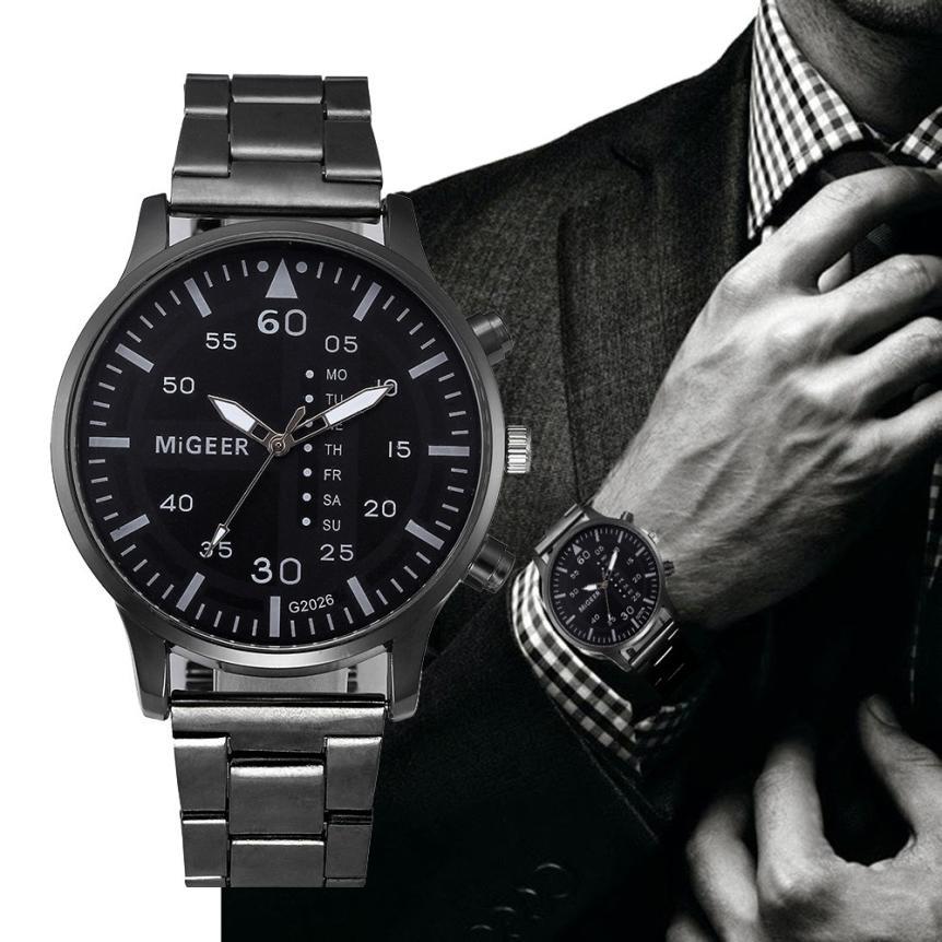 Business Relogio Masculino Fashion Casual Men Watches Luxury Brand Stainless Steel Quartz Wrist Watch Sports Digital Gift Z20