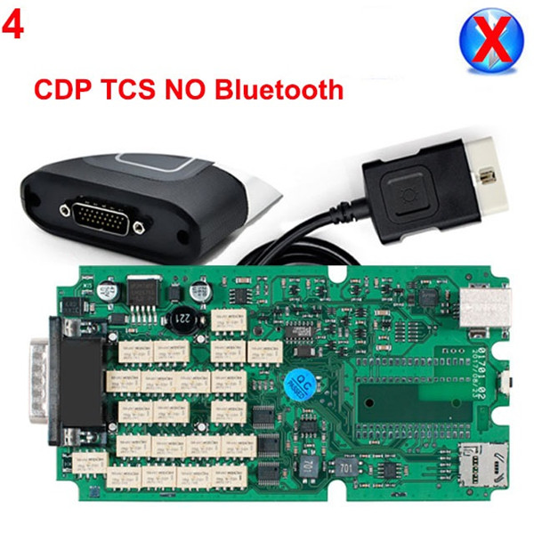 цена на A+ Quality 100% newest green relays Single Board PCB new vci With bluetooth 2015 r3 version on cd with carton box TCS CDP PRO