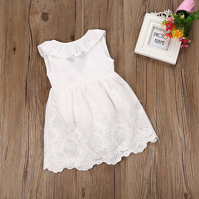 Toddler Kids Baby Girls Lace Dress Princess Party Pageant Wedding Sundress 2-8T girl dresses baby girl pageant wedding dresses infant princess girls birthday party dress christening kids frock designs for 2 4 6 8 10 years