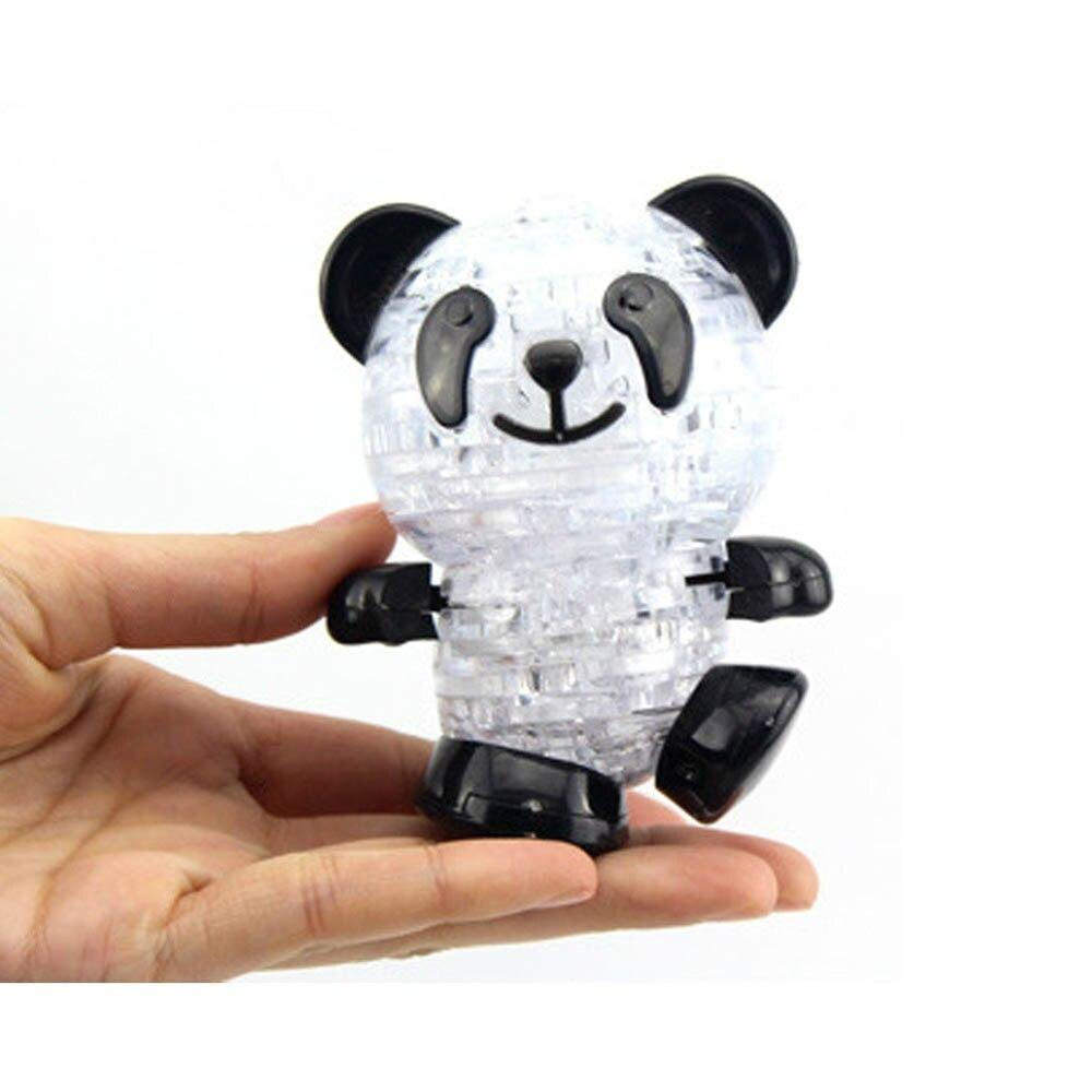 3d Hoge Kwaliteit Crystal Panda Puzzel Model Diy Intellectuele Educatief Speelgoed Voor Kinderen En Vrienden Kerstcadeau Vloeiende Circulatie En Pijn Stoppen
