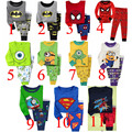 Retail 2 pcs set new 2014 brand babys cotton sleepwear boys Despicable Me pyjamas girls spiderman clothing kids pajama