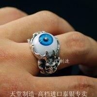 Скрыть синий глаз sku LL кольцо тайский серебряное кольцо