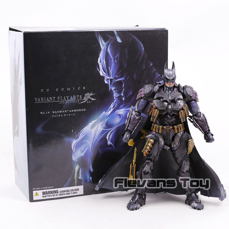 Play Arts Kai DC Comics Batman Armored Ver. PVC Action Figure Collectible Model Toy play arts kai street fighter iv 4 gouki akuma pvc action figure collectible model toy 24 cm kt3503