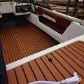 Темно-коричневые самоклеющиеся ЕВА пена тик лист темно коричневый лодка яхты синтетический настил пенопластовый напольный коврик Сильный ...