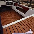 Dunkelbraun Selbstklebende Eva-schaum Teak Blatt Dunkelbraun Boot Yacht Synthetische Decking Schaum Bodenmatte Starke Gule