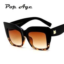 Pop Age Newest Luxury Brand Designer Sunglasses Women Men Fashion Square Sun glasses Female Vintage Eyeglasses Lunettes 400UV