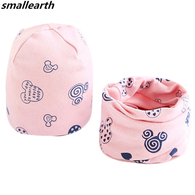 New Autumn Winter Baby Hat Scarf Set Cartoon Owl Swan Crochet Baby Caps Boy  Girl Cap Kids Beanie Hat Children Cotton Collar Sets 85ff2291e9fd