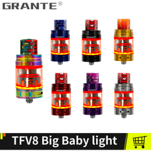 Grante TFV8 Big Baby Light Atomizer With TFV8 Big Baby Replaceable Glass 810 Snake Drip Tip V8 Baby M2 Core Vape Tank Vaporizer 100% original smok tfv8 big baby beast tank atomizer 2ml eu version w v8 baby q2 eu core top refill system 0 4ohm vs tfv12
