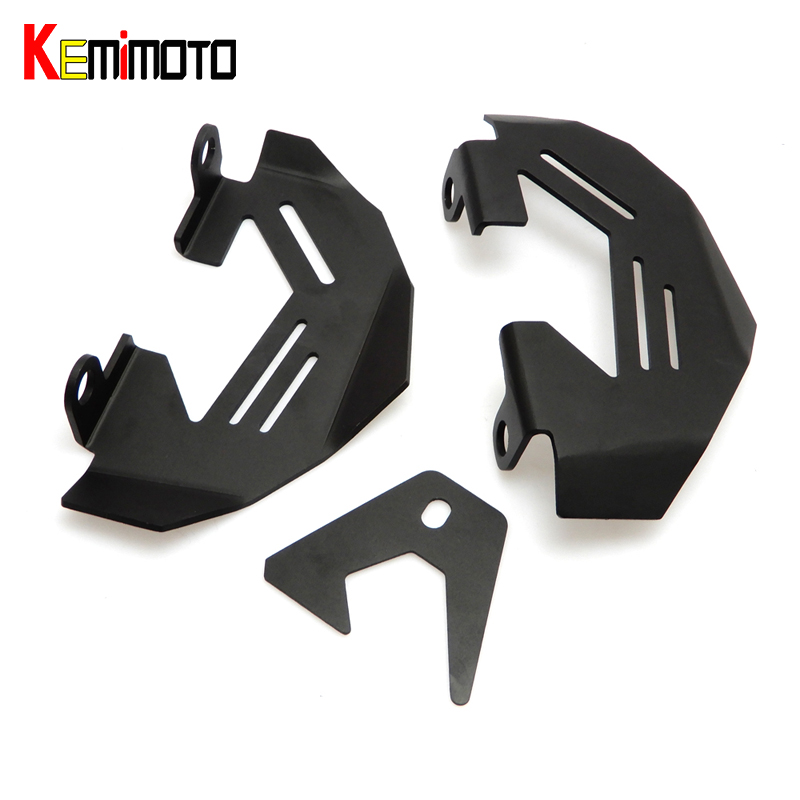 KEMiMOTO R1200GS Motorcycle Front & Rear Aluminum Brake Caliper Cover Guard for R 1200 GS LC/Adv 13-16 R1200R R1200RS 2015-2016 for bmw r1200gs lc adv 13 16 r1200r r1200rs 2015 2016 motorcycle aluminum front