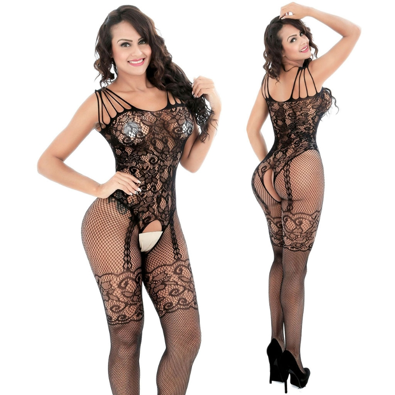 Women Sexy Lingerie Sleepwear Nightwear Body stocking Fishnet Bodysuit Drop Ship
