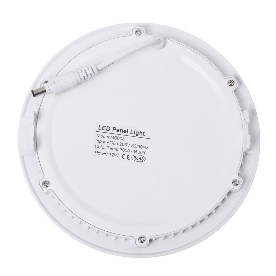 12W LED 2835 SMD panel lamp down light ceiling lights dimming LED 3000K Warm White