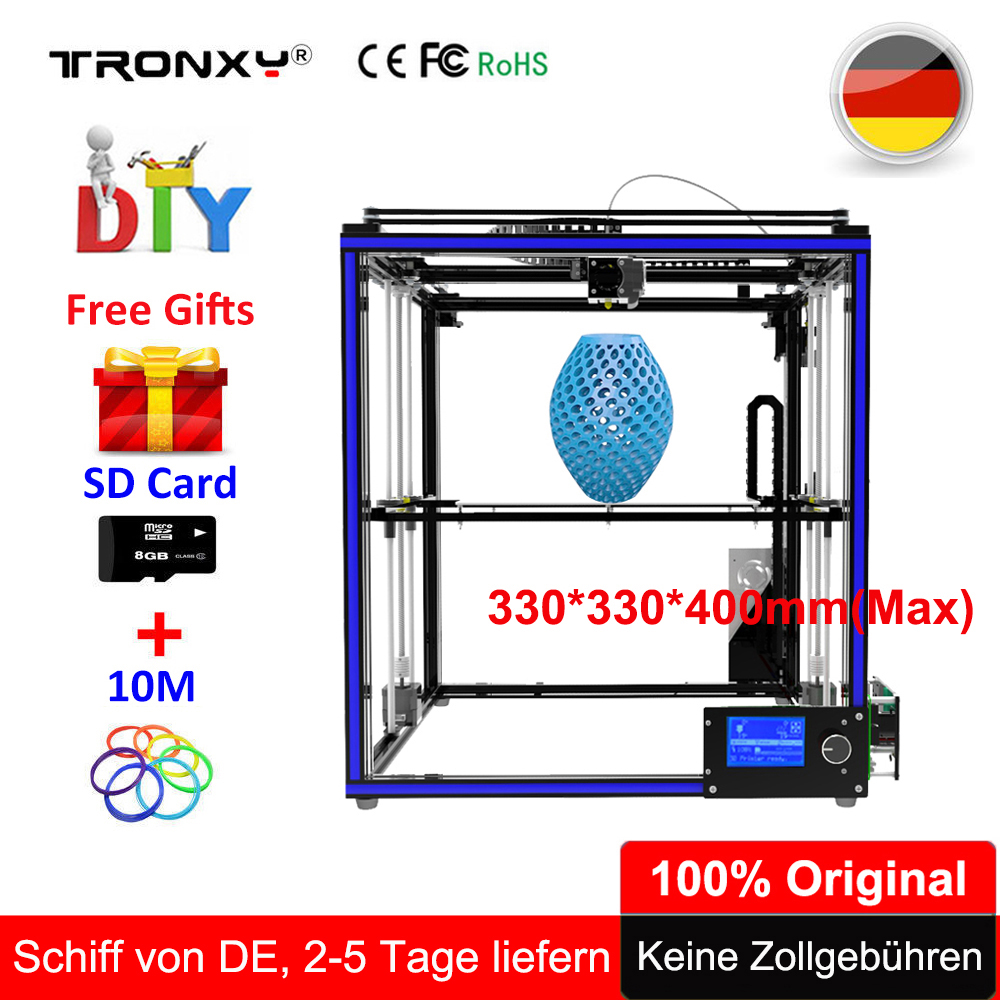Tronxy 3D Printer X5S Updated 3D Printing Machine Extreme High Accuracy Metal Printer Machine +Large Build Size of 330*330*400mm tronxy x3s 330 x 330 x 420mm fast installation 3d printer