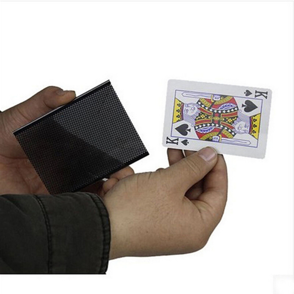 Funny WOW Poker Card Magic Trick WOW Card Wonderful Vanish Illusion Change Sleeve Close-Up Street Magic Trick image
