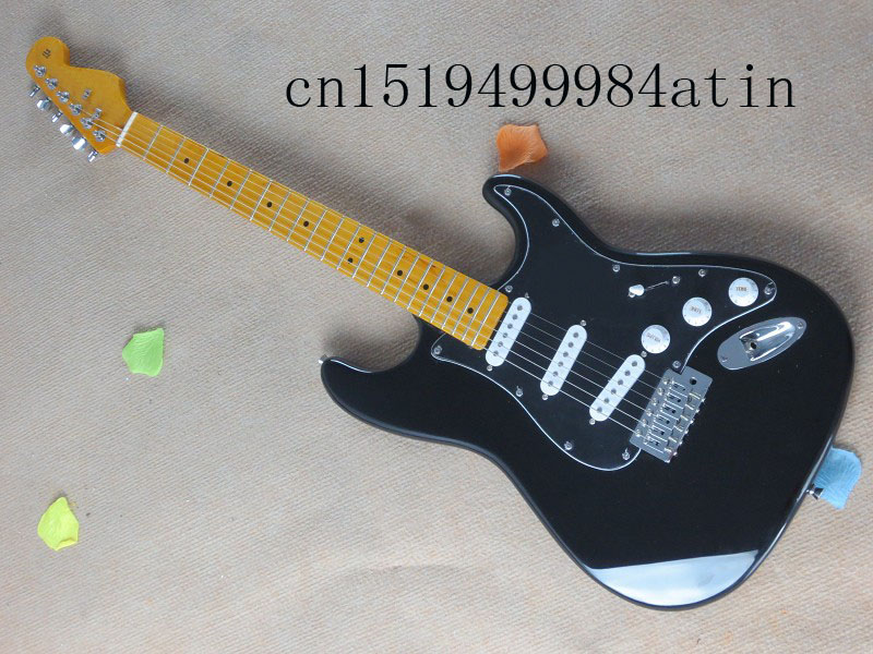 New Arrival Stratocaster made in usa 6 string black Electric Guitar !! Free shipping    @8 stainless steel manual juicer slow hand press orange lemon grapefruit juicing machine