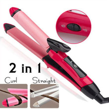 Get more info on the Professional iron curler 2 in 1 flat iron Multifunction Hair Straightener & Hair Curler Beauty Women Tools    4