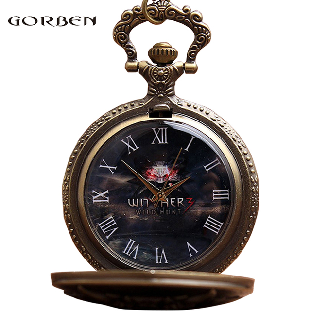 Pocket Watch Quartz Fob Watches With Chain Necklace Vintage Anime Retro The WITC