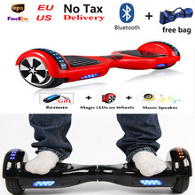 Christmas gift standing drift board hoverboard led light on 2 wheels bluetooch bag remote electric scooter skateboard