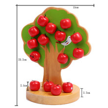 Montessori Educational Wood Magnetic Apple Tree Early Learning Math Toy