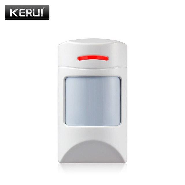 KERUI אלחוטי מעורר אינפרא אדום גלאי אנטי חיות מחמד PIR חיישן גלאי עם ארוך לזהות מרחק עבור KERUI מעורר מערכת