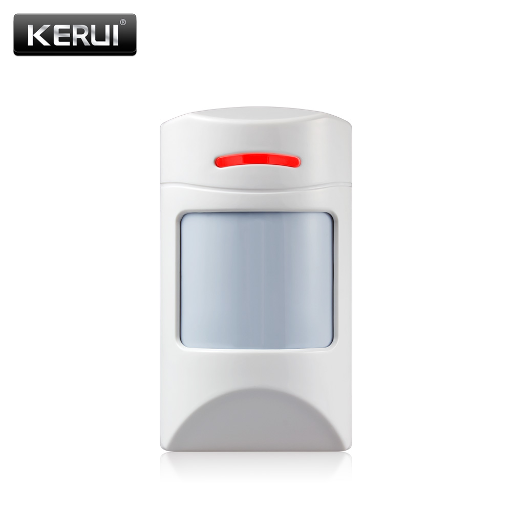 KERUI Wireless Alarm Infrared Detector Anti-Pet PIR Sensor Detector With long Detect Distance For KERUI Alarm System wireless vibration break breakage glass sensor detector 433mhz for alarm system