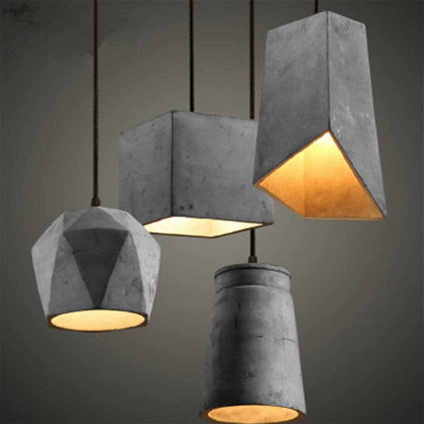 Retro  Industrial Loft Style Vintage Cement Droplight Pendant Light Fixtures for Dining Room  Hanging Lamp Indoor Lighting loft style creative cement droplight edison industrial vintage pendant light fixtures for dining room hanging lamp lighting