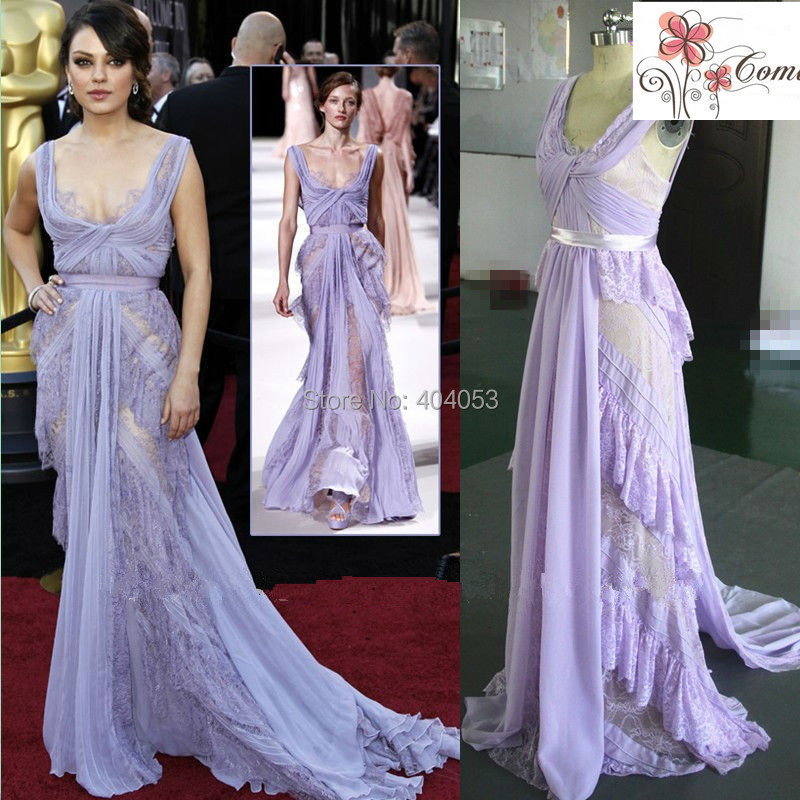 2014 New Arrival Elie Saab 100 Real Sample See Through Long Sleeves Delicated Beaded Prom Evening Dress