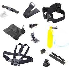 For xiaomi yi Set For Gopro Distant Wrist Strap+Helmet Extention Kits Mount+Chest Belt+J Hook Mount+Bobber+For Gopro hero4/three/three+/2