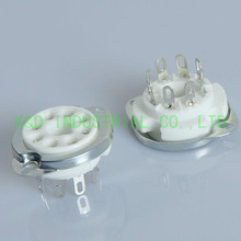 4pcs 8pin Silver Plate Ceramic Tube Socket K8A Base for EL34 6CA7 KT88 6SN7 6L6  Guitar Amp parts 4pcs lot 6l6gc shuguang tube generation 6l6 el34 6n3c kt88
