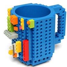 Bestseller Kreative Gefäße Bausteine Tassen DIY Kaffeetasse Block Puzzle Becher 350 ml Persönlichkeit Wasser Tasse