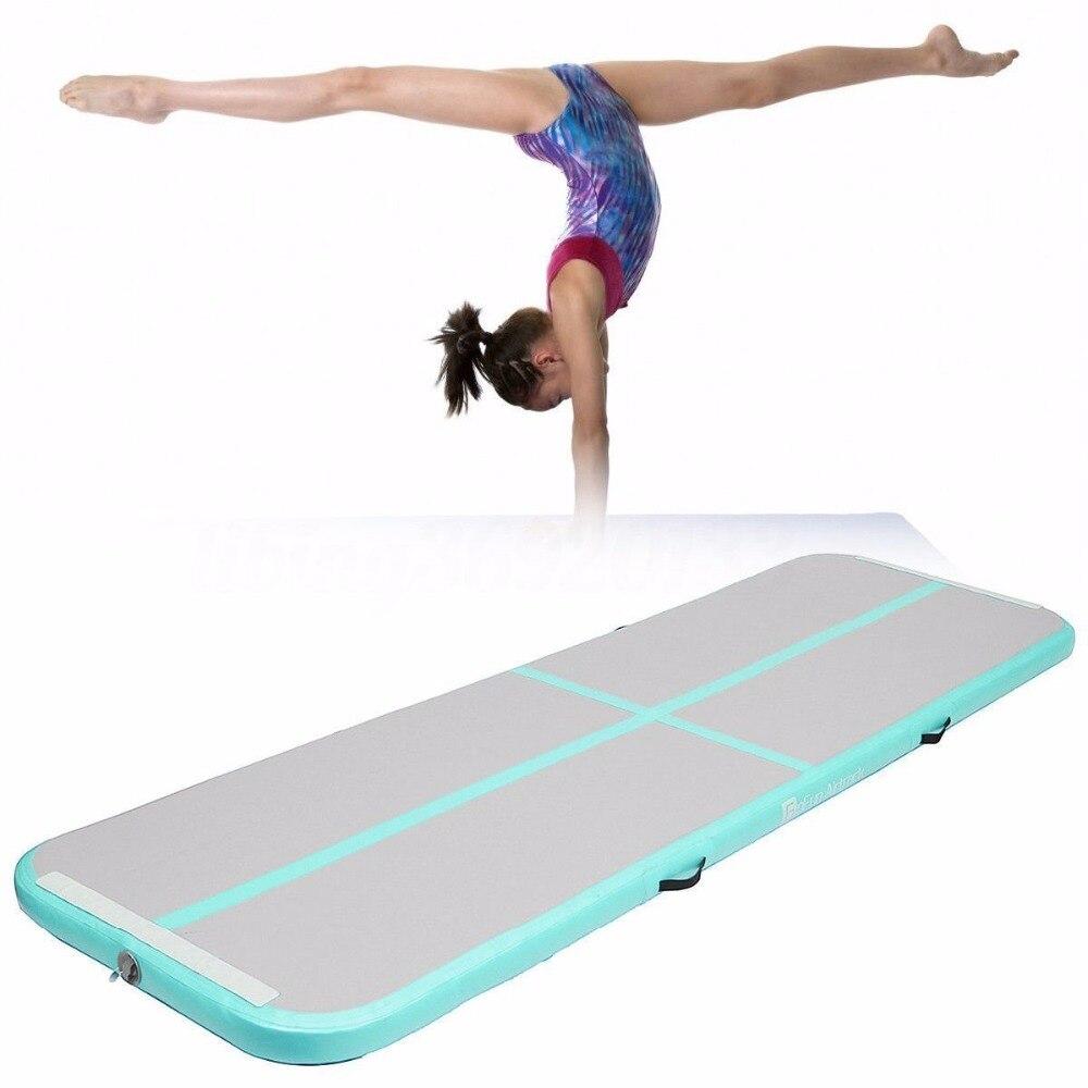 Piste d'air 5m gonflable pas cher gymnastique matelas arc-en-ciel Gym dégringolade Airtrack plancher culbutant piste d'air à vendre livraison gratuite - 3
