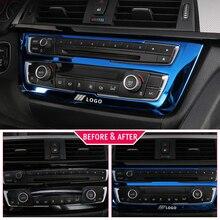 Para BMW F30 F34 320i 3 series Accesorios interruptor de Faro de acero inoxidable con adornos y botones cubierta Interior Trim Car Styling Sticker