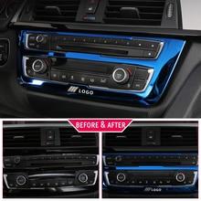 Per BMW F30 F34 320i 3 Accessori di serie In acciaio inox Faro Interruttore Bottoni Decor Copertura Interior Trim Car Styling Sticker