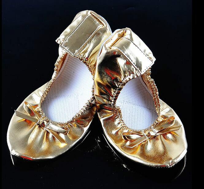 NEWEST !!!Belly Dance acrobatics new golden soft shoe