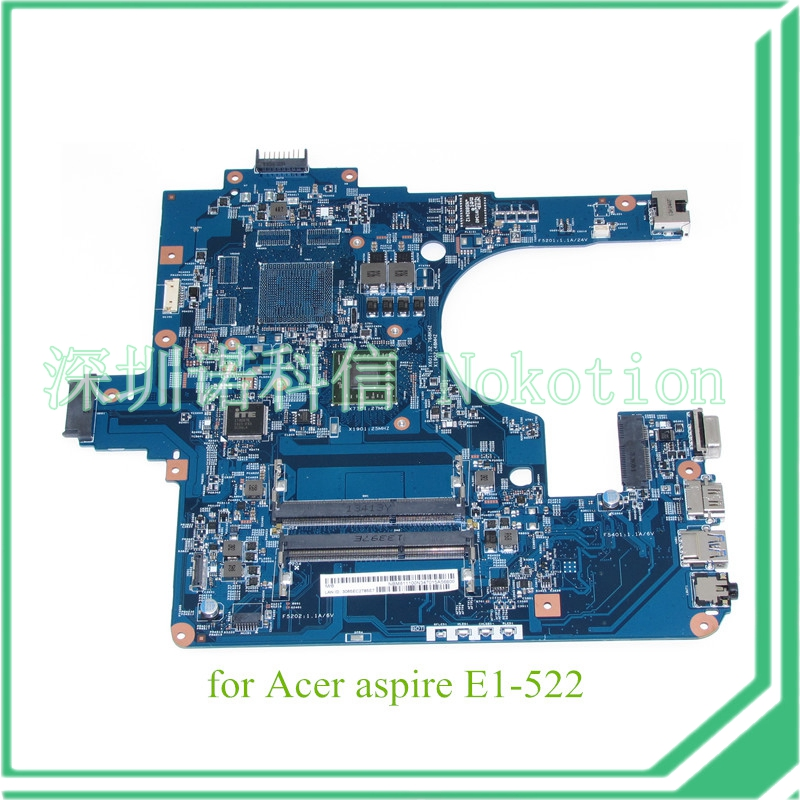NOKOTION NB.M8111.00N EG50-KB MB 12253-3M 48.4ZK14.03M NBM811100N For acer aspire E1-522 motherboard  warranty 60 days nokotion sps v000198120 for toshiba satellite a500 a505 motherboard intel gm45 ddr2 6050a2323101 mb a01