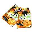 2016 Nuevos niños niños de color del verano cortocircuitos de la playa pantalones cortos de moda 9 estilo 4-12 T niños de impresión playa pantalones cortos