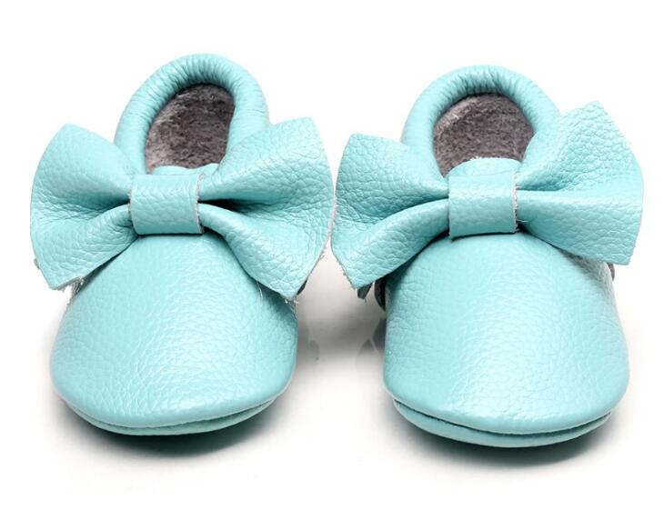 Fashion cute bow genuine leather baby moccasins toddler Baby girls Shoes hot sale Newborn first walker soft soled shoes