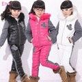 Llamadas 2013 nueva moda infantil otoño invierno cálido niños de sistema de la ropa infantil otoño ropa muchachas libera el envío