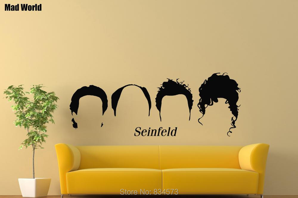 Mad World Seinfeld Silhouette Wall Art Stickers Wall Decal Home DIY ...